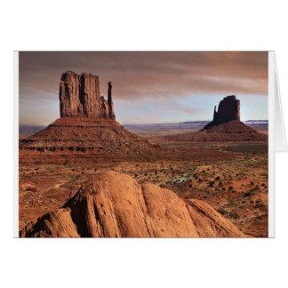 Paysage de désert carte