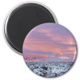 Paysage de gisement de lave de Milou, Islande Aimant