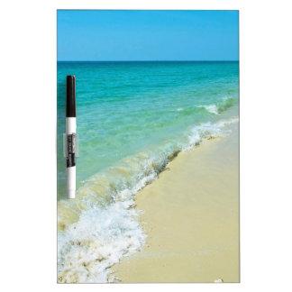 Paysage de plage tableau blanc effaçable à sec