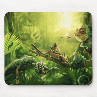 Paysage de reptiles de jungle de grenouilles de tapis de souris