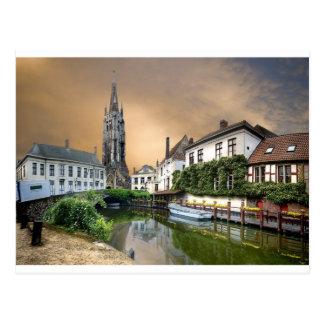 Paysage de rivière de la Belgique Carte Postale