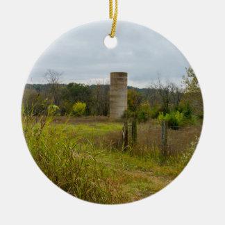 Paysage de silo de mère patrie ornement rond en céramique