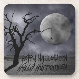 Paysage éffrayant Halloween - dessous de verre de