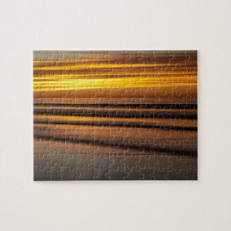Paysage marin abstrait au coucher du soleil, CA Puzzle