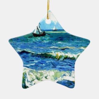 Paysage marin chez Saintes-Maries, Vincent van Ornement Étoile En Céramique