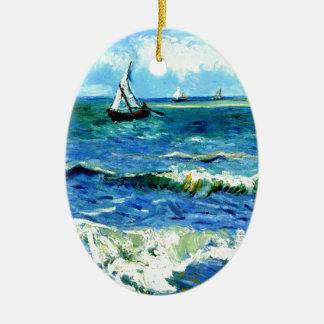 Paysage marin chez Saintes-Maries, Vincent van Ornement Ovale En Céramique
