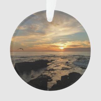 Paysage marin du coucher du soleil I la Californie