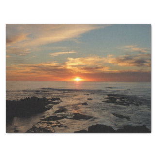 Paysage marin du coucher du soleil II la Papier Mousseline