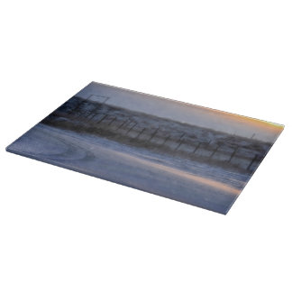 Paysage occidental en verre de planche à découper