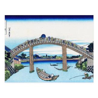 Paysage oriental frais de vue de Hokusai Fuji de Carte Postale
