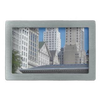 Paysage urbain de Chicago Boucle De Ceinture Rectangulaire