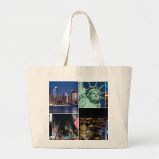 Paysage urbain de photo de collage de New York Sac En Toile Jumbo