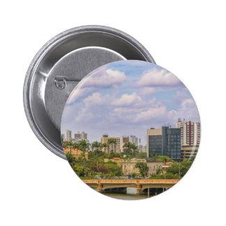 Paysage urbain de Recife, Pernambuco Brésil Badge Rond 5 Cm