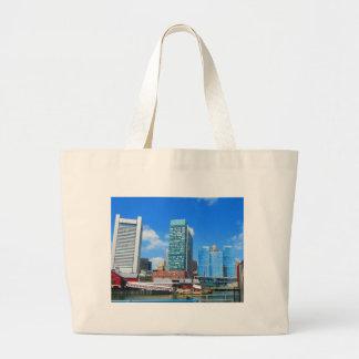 Paysage urbain des bâtiments n de ville de Boston Grand Sac