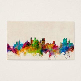 Paysage urbain d'horizon de Cambridge Angleterre Cartes De Visite