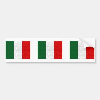 Peau de serpent de drapeau de l'Italie Autocollant De Voiture