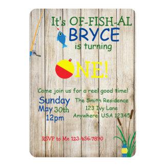 Pêche de l'invitation orientée d'anniversaire carton d'invitation  12,7 cm x 17,78 cm