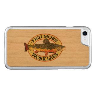 Pêche de mouche de truite de ruisseau coque iphone 7 en bois