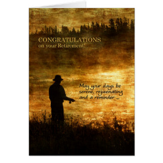 Pêche de pêcheur de félicitations de retraite carte de vœux