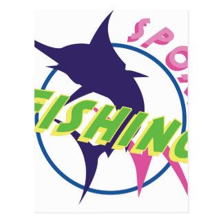 Pêche sportive cartes postales