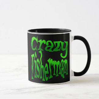 Pêcheur fou en vert mug