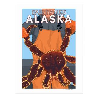 Pêcheur limule - Fairbanks, Alaska Carte Postale