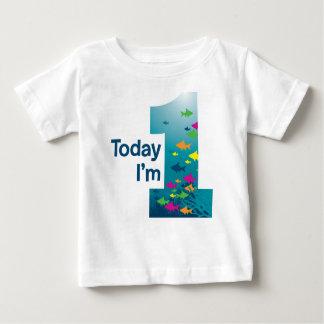 Pêchez le ęr anniversaire t-shirt pour bébé