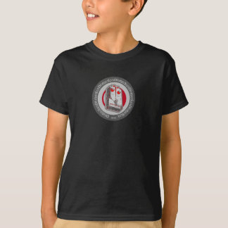Pédale de déformation grise/blanc/rouge t-shirt