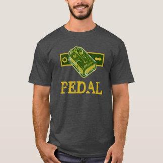 PÉDALE de déformation - vert et moutarde affligés T-shirt