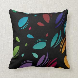 Pédales abstraites colorées de larme coussin