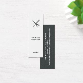 Peigne vertical minimaliste de ciseaux de coiffeur mini carte de visite