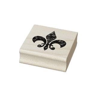 Peignez Fleur de Lis Stamp affligé rayé