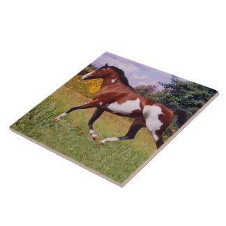 Peignez la tuile de trot de cheval carreaux