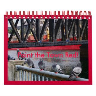 Peignez la ville rouge ! calendriers muraux