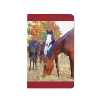 Peignez les journaux de poche de cheval carnet de poche
