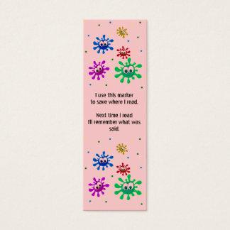 Peignez les marque-pages de floc mini carte de visite