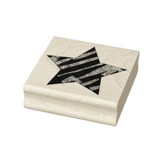 Peignez l'étoile texturisée vintage affligée rayée