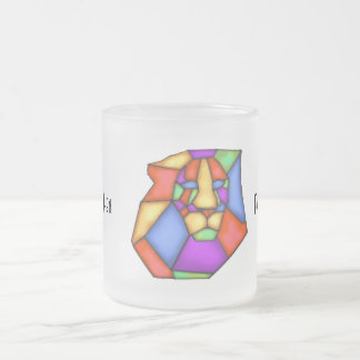 Peignez votre tasse en verre givré d'amour