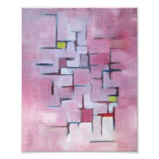 Peinture à l'huile originale géométrique abstraite impression photo