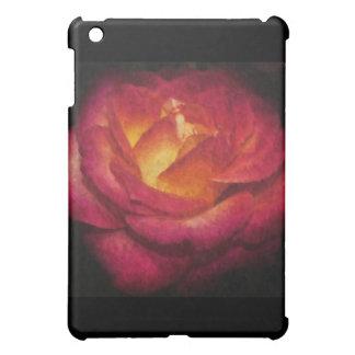 Peinture à l'huile rose flamboyante coque iPad mini