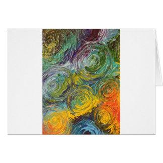 Peinture abstraite de spirales colorées carte