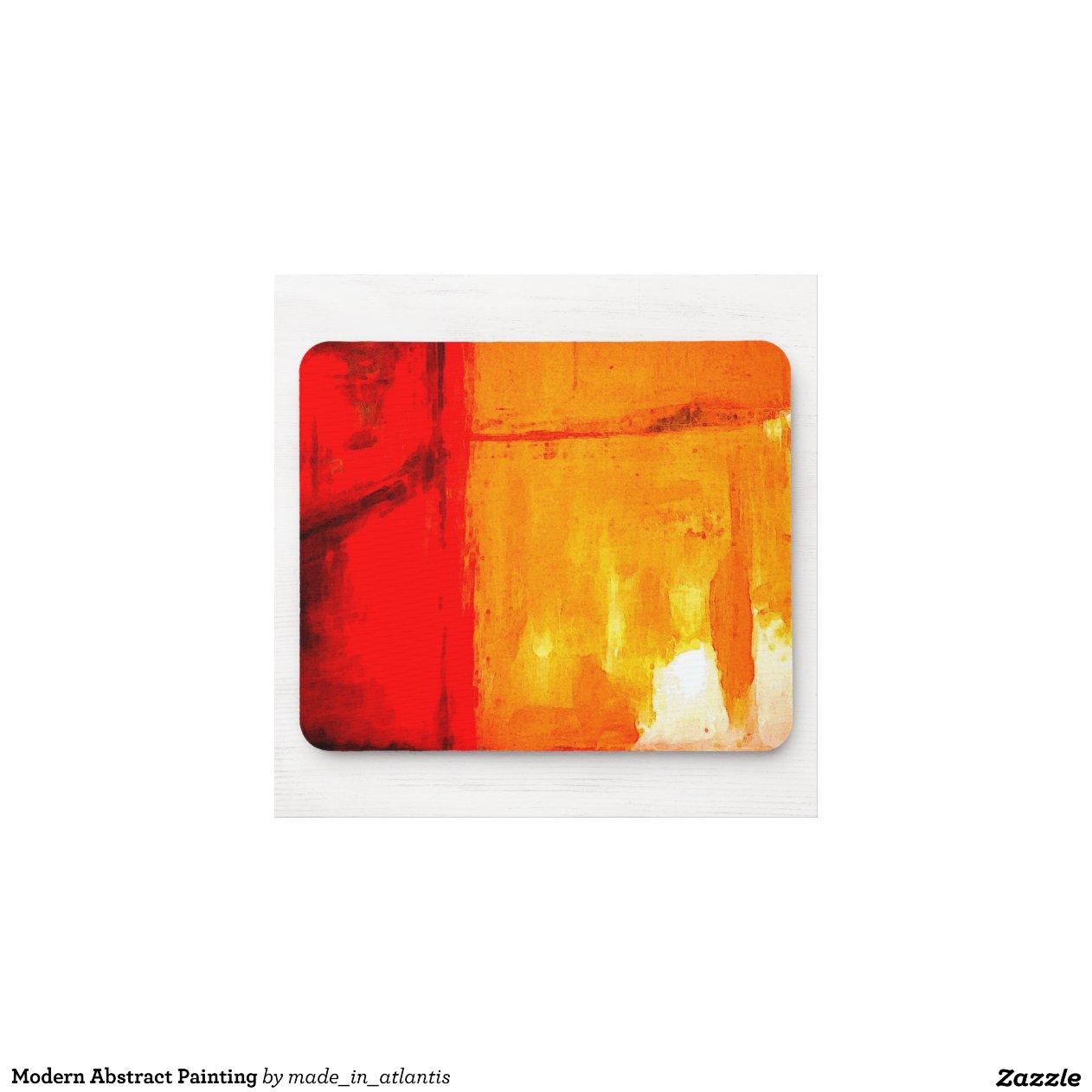 Peinture Abstraite Moderne Tapis De Souris Zazzle