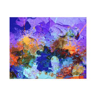 Peinture abstraite sur la toile toiles