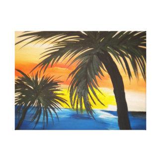 Peinture acrylique tropicale toiles