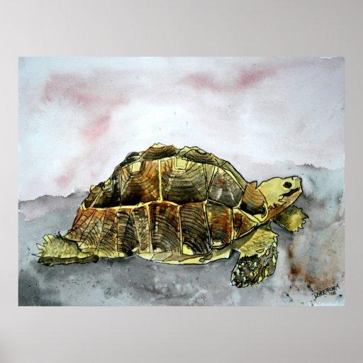 peinture africaine d'impression d'affiche de tortu poster