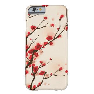 Peinture asiatique de style, fleur de prune au coque iPhone 6 barely there