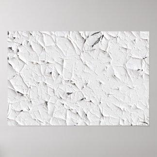 Peinture blanche d'épluchage poster