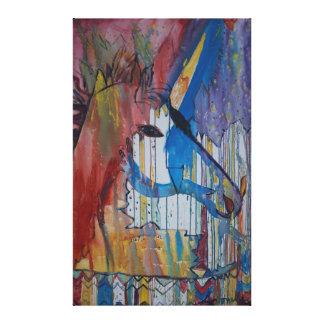 Peinture bruinée de licorne par Avonelle Kelsey Toiles