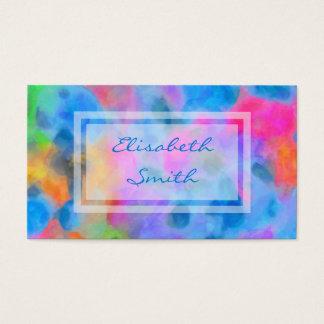 Peinture colorée abstraite cartes de visite