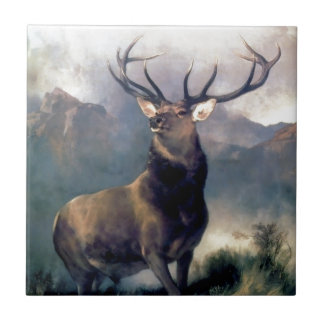 Peinture d'animal sauvage d'élans petit carreau carré